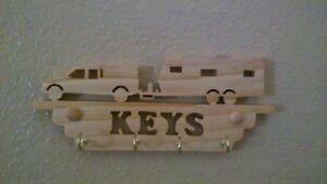 Travel trailer key holder, Key chain , RV