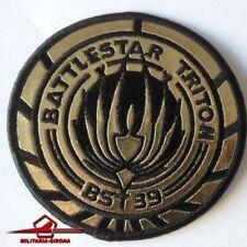 "BATTLESTAR TRITON BST 39 BLACK AND GOLD METALLIC PATCH 3,7"" (9,2 cm)"