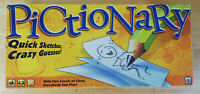 Pictionary Board Game - Yellow Box Edition - Mattel 2010. INCOMPLETE