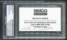 "SIGNED BUSINESS CARD WARREN BUFFET, ENCAPSULATED, ""ORACLE OF OMAHA""  RARE CARD"