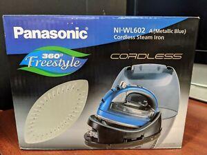 Panasonic Cordless 360-Degree Freestyle Steam/Dry Iron (Blue) NI-WL602