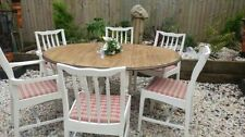 Wooden Antique Style 7 Pieces Table & Chair Sets