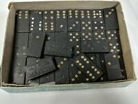 Vintage Halsam Products Wood Dominoes Set 55 Pieces Instructions U.S.A.