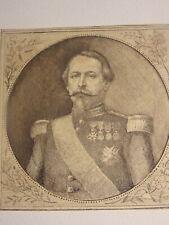 Ecole FRANCAISE XIX PORTRAIT NAPOLEON III EMPEREUR SECOND EMPIRE BONAPARTE 1855