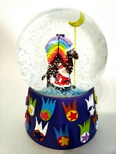 Neiman Marcus Dept 56 Christmas Musical Snow Globe Camel Carrying Rainbow 1999