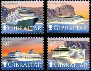 GIBRALTAR 2008 CRUISE SHIPS SC#1153-56 MNH CV$13.50