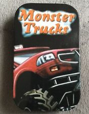 ** NEW ~ Slim 1oz ~ Hinged Tobacco Tin ~ Monster Truck **
