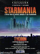 Publicité advertising 1993 Concert Starmania Theatre Mogador