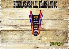 HONDA CR CRF MOTOCROSS REAR MUDGUARD GRAPHICS-STICKER-GRAPHIC-DECALS-MX1-TV