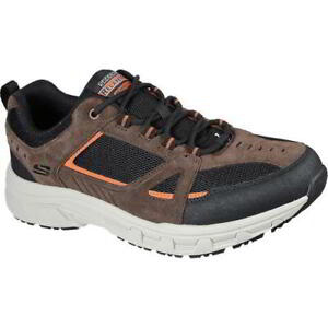 Skechers Oak Canyon Mens Dark Brown Relaxed Fit Lace Up Shoes Trainers Size 8-13