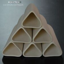 Ceramic Breeding Cave for Small Pleco/Dwarf, Triangle Cave, 1 Set = 3 ea