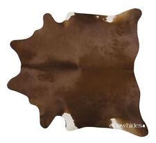 Dark Brown Brazilian Cowhide Rug Cow Hide Area Rugs Leather Size LARGE