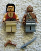 LEGO Pirates Of The Caribbean - Rare - 4195 2 Zombie Minifigs w/ Weapons