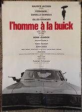 cinema-affiche originale- L'HOMME A LA BUICK -60x80-Fernandel-Darrieux-1968
