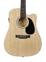 Fender SA-105CE Dreadnought Cutaway Electro Acoustic Guitar, Natural (NEW)