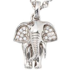 JOBO Anhänger Elefant 925 Sterling Silber rhodiniert mit Zirkonia Kettenanhänger