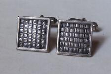 Vintage 930 Sterling Silver Woven Design Cufflinks