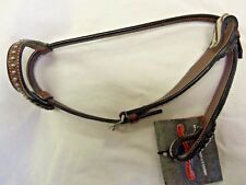 CIRCLE Y LEATHER ONE EAR HEADSTALL, ZEBRA PRINT--REGULAR OIL-NEW WITH TAGS
