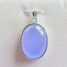 Fine New 18k GP Alloy With Purple Chalcedony Women Men Bless Oval Pendant