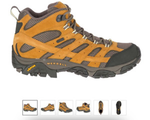 Merrell Moab 2 MID WP Waterproof Gold Hiking Boot Shoe Men's sizes US 7-15/NEW!!