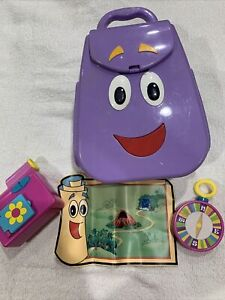Vintage 2004 Dora The Explorer My Talking Backpack With Map Camera Compass
