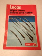 LUCAS WIPER ARMS BLADES AND REFILLS PARTS BOOK UP TO 1985 RB507