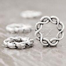 40 Tibet Tibetan Silver Ring Spacer Bead Finding TS1059