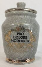 Apothecary Jar Gray Pro Delore Moderata Ceramic Pharmacy Vintage