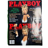 PLAYBOY Magazine Vintage Centerfold January 1993 Anniversary Issue Barbi Twins
