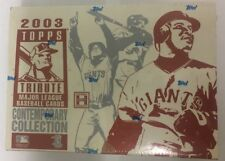 2003 Topps Tribute Contemporary Collection Factory Sealed Baseball Hobby Box