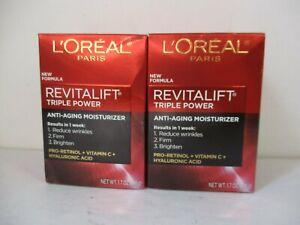 2 L'OREAL REVITALIFT TRIPLE POWER MOISTURIZER EXP 9/22+ JL 12625