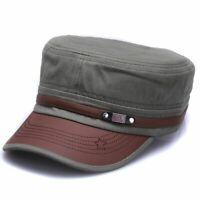 Cotton Military Hats Adjustable Flat Top Army Sun Caps Casual Men Women Outdoor