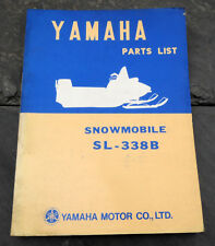 Original 1971 Yamaha SL-338B Snowmobile Parts List/Manual SL338B