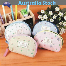 NEW Floral Pattern Girl Coin Bag Purses Lady Bag Pouch Card Holder Stationery