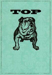 Funny Happy Father's Day Bulldog Bulldogs Top Dog Hallmark Greeting Card