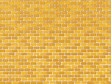 Auhagen 50510 1 Dekorpappe Ziegelmauer ocker lose, 220 x 100 mm ++ NEU