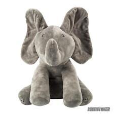 Peek-a-boo Baby Elephant Plush Toy Stuffed Animated Kids Singing Xmas Gift Soft