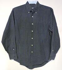 Lands' End Men's Long Sleeve Button Front Shirt-Navy Blue Size 15.5--34 GUC
