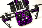 DJI Inspire 1 Quadcopter/Drone, Transmitter, Battery Wrap/Skin | Purple Flames