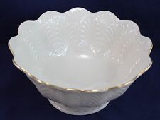 """LENOX Vintage GREENFIELD Collection Footed Centerpiece Bowl Gold Highlights 9.5"""""""