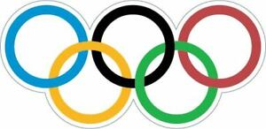 Olympic Rings  Sticker Decal Laptop Car Cornhole Wall Helmet Pick a size