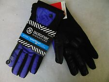 Isotoner Signature Smart Touch Gloves Active Matrix Black Violet M/L #C115