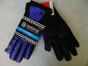 Isotoner Signature Smart Touch Gloves Active Matrix Black Violet M/L #1668