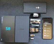 Samsung Galaxy S8 G950U NEGRO LIBRE+ FM RADIO+GARANTIA 1 AÑO + CAJA + ACCESORIOS