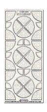 Zierstickerbogen Konturensticker Sticker Kleben & Sticken Viertel Silber (043)