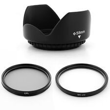 58mm petal LENS hood, CPL UV filters for Canon EOS 58mm EF-S 18-55mm