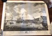 Vintage Print View of the Royal Dockyard at Deptford  London         LS0497