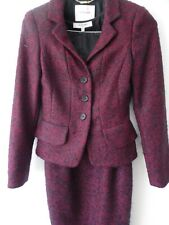 L.K Bennett Mohair Dress + Matching Jacket Size 6 Red And Black