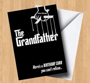 Personalised The Grandfather (Godfather/Grandad/Granddad/Joke) Birthday Card