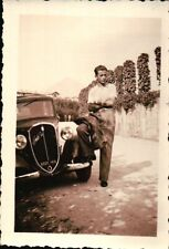 FOTO RAGAZZO CON FIAT BALILLA TARGATA VARESE - 1930ca